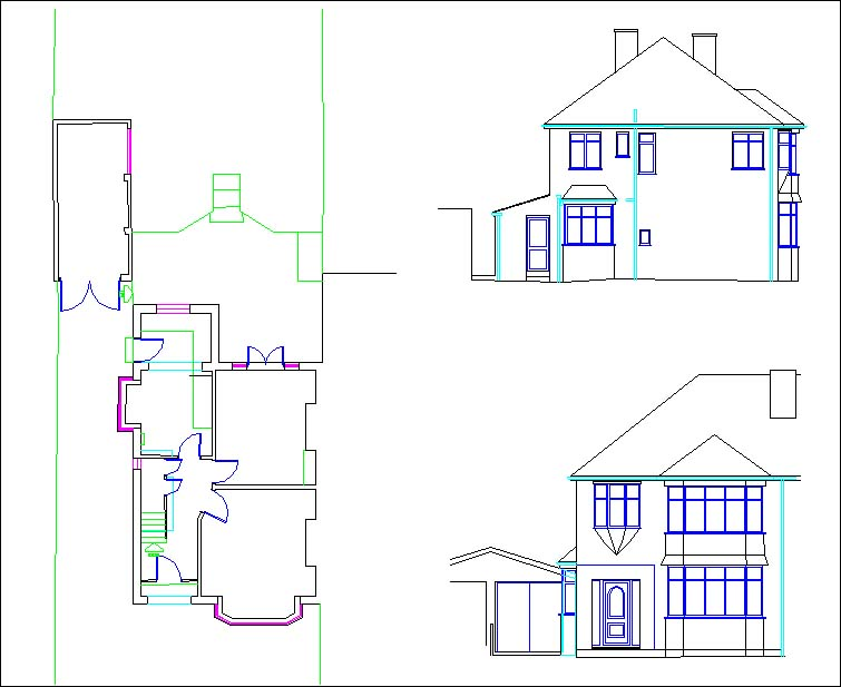 4 Bedroomed Semi Detached House Floor plans