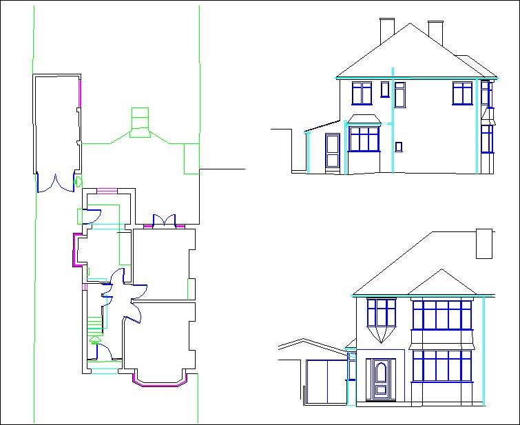 4 Bedroomed Semi Detached House Floor plans